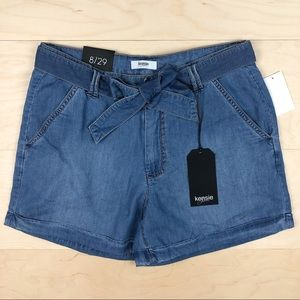 NWT Kensie High Rise Chambray Shorts
